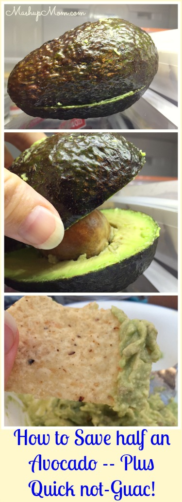 how to save half an avocado