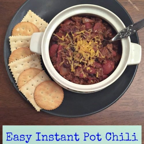 Easy Instant Pot Chili With Canned Beans