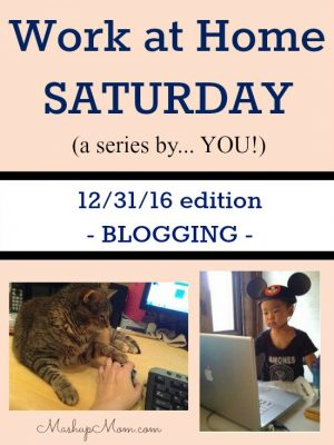 Work at Home Saturday 12/31/16 — Blogging