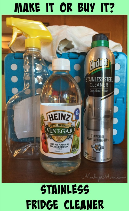 diy stainless steel refrigerator cleaner