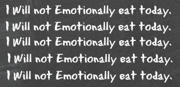 I will not emotionally eat today graphic
