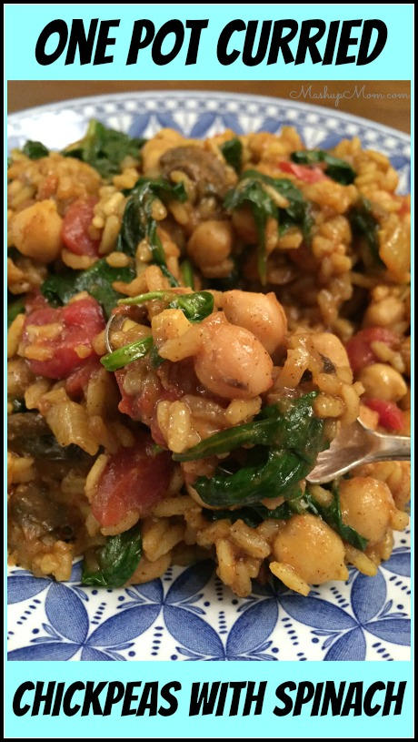 one pot curried chickpeas