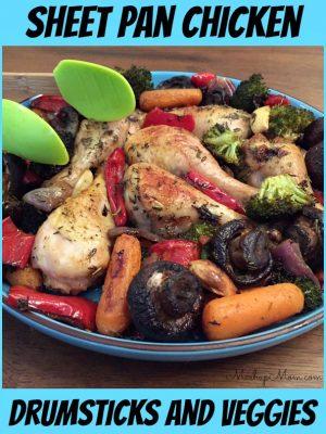 Sheet Pan Chicken Drumsticks and Veggies