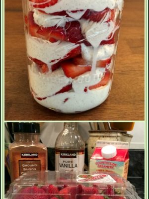 Sugar Free Strawberries and Whipped Cream — No added sugars (or sugar substitutes!)