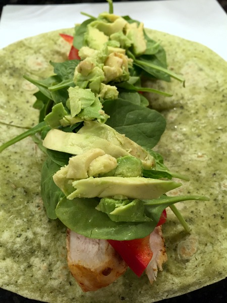Chipotle Chicken Wraps with Kicked Up Avocado Cream