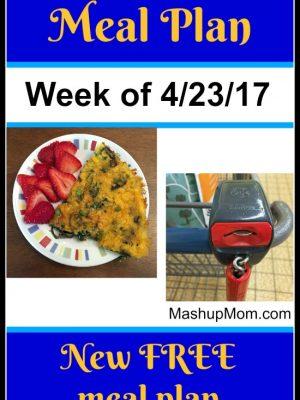 Free ALDI Meal Plan week of 4/23/17 – 4/29/17