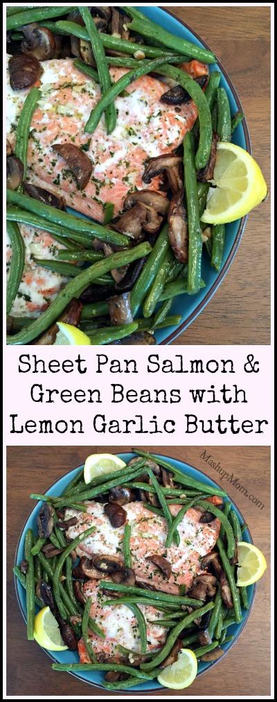 sheet pan salmon and green beans