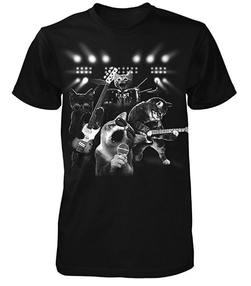 Quirky Finds 5 18 17 Cat Rock Band T Shirt