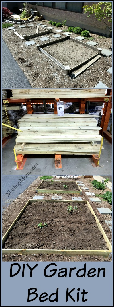 DIY Garden Bed Kit -- Use fence boards to make one on the cheap!
