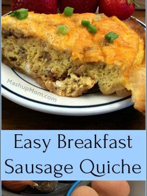 Easy Breakfast Sausage Quiche
