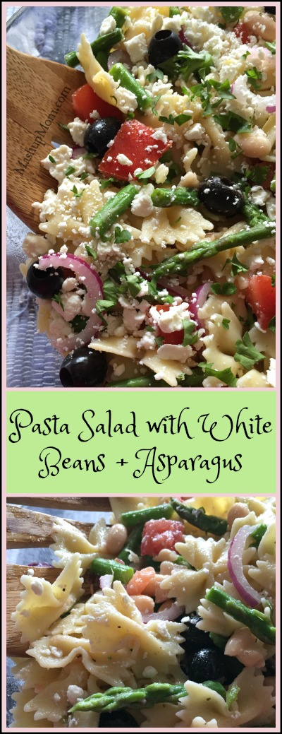 pasta salad with white beans & asparagus