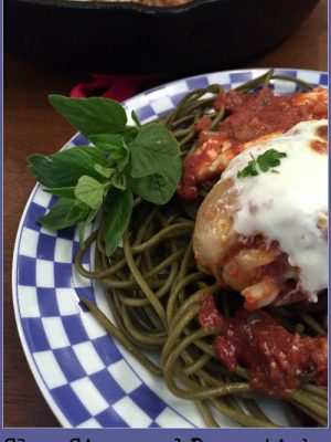 Slow Simmered Drumsticks with Tomatoes & Mozzarella
