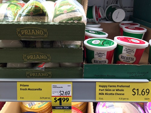 cheese on the shelf at aldi