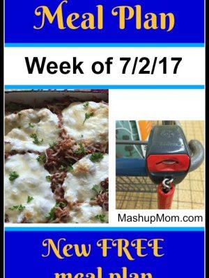 Free ALDI Meal Plan week of 7/2/17 – 7/8/17