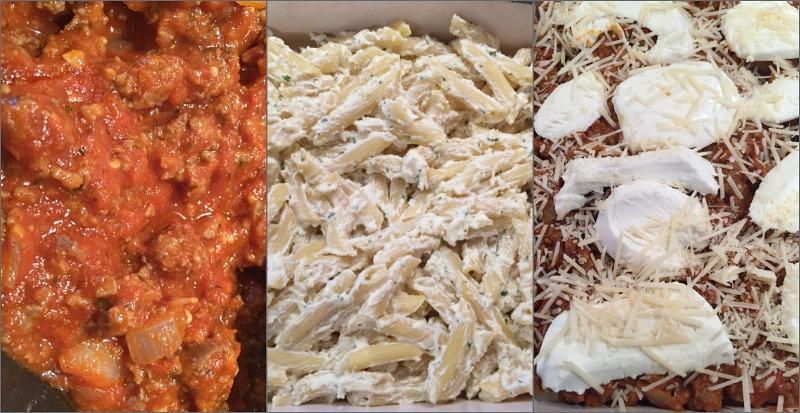 penne pasta bake steps