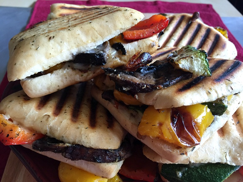 roasted veggie paninis