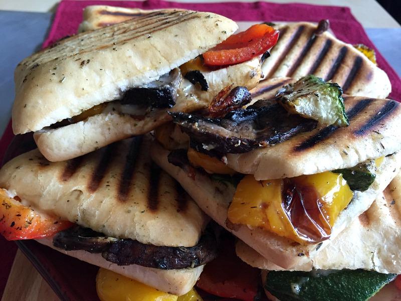 roasted veggie paninis