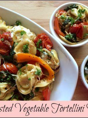 Roasted Vegetable Tortellini Bake