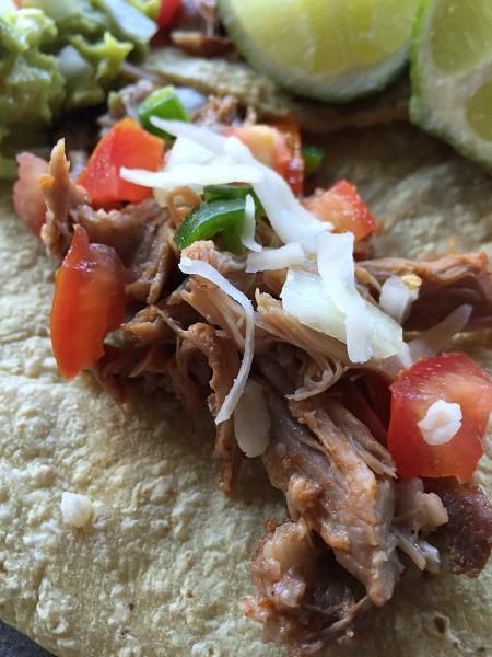 salsa pork taco