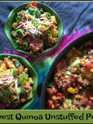 Southwest Quinoa Unstuffed Peppers
