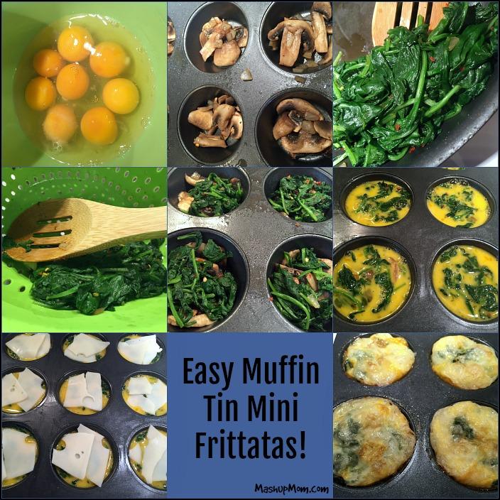 mini frittatas step by step