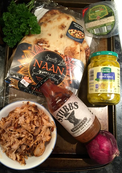 BBQ chicken naan pizza ingredients