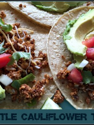 Vegetarian Chipotle Cauliflower Tacos