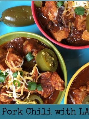 Chipotle Pork Chili with LA MORENA®