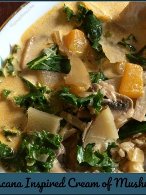 Zuppa Toscana Inspired Cream of Mushroom Soup — A Vegetarian Recipe