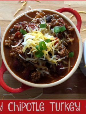 Easy Chipotle Turkey Chili
