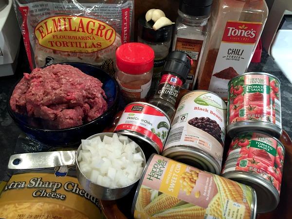 enchilada pie ingredients