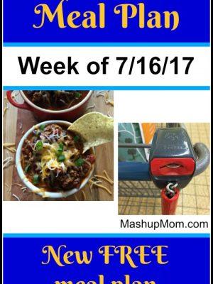 Free ALDI Meal Plan week of 7/16/17 – 7/22/17
