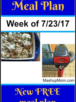 Free ALDI Meal Plan week of 7/23/17 – 7/29/17