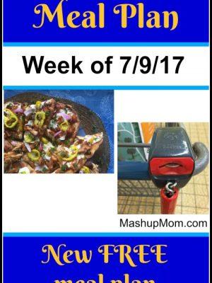 Free ALDI Meal Plan week of 7/9/17 – 7/15/17