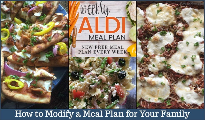 how to modify a meal plan