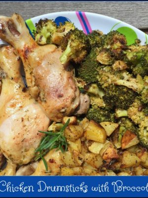 Sheet Pan Chicken Drumsticks with Broccoli & Potatoes