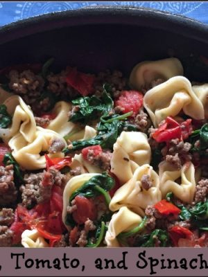Easy Beef, Tomato, and Spinach Tortellini