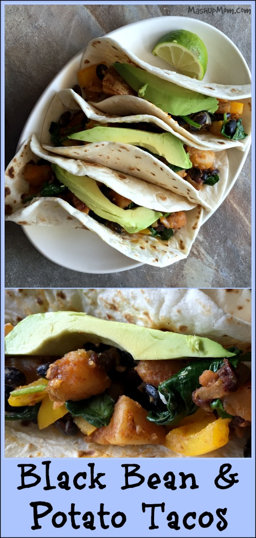 black bean & potato tacos