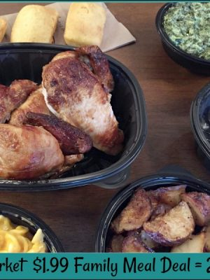 Boston Market $1.99 Family Meal Deal = 2+ dinners — plus a rotisserie chicken soup recipe!