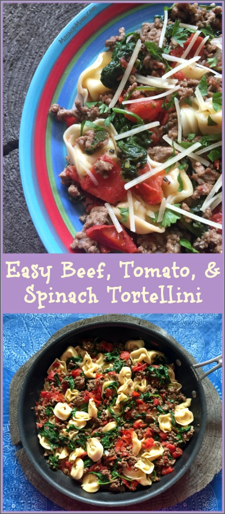 beef tomato and spinach tortellini