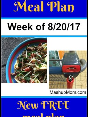 Free ALDI Meal Plan week of 8/20/17 – 8/26/17