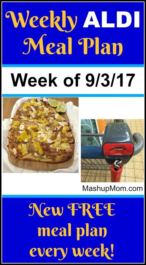 free aldi meal plan week of 9/3/17