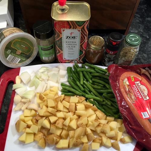 sheet pan sausage ingredients