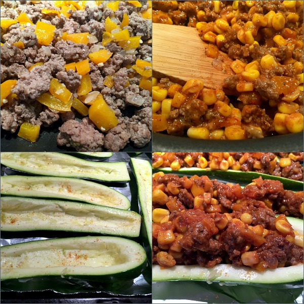 steps to making zucchini boats