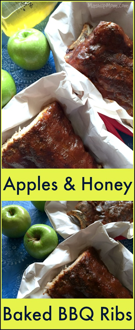 Apples & Honey Baked BBQ Ribs are sticky, just sweet enough, and naturally gluten free!