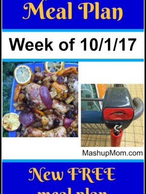 Free ALDI Meal Plan week of 10/1/17 – 10/7/17