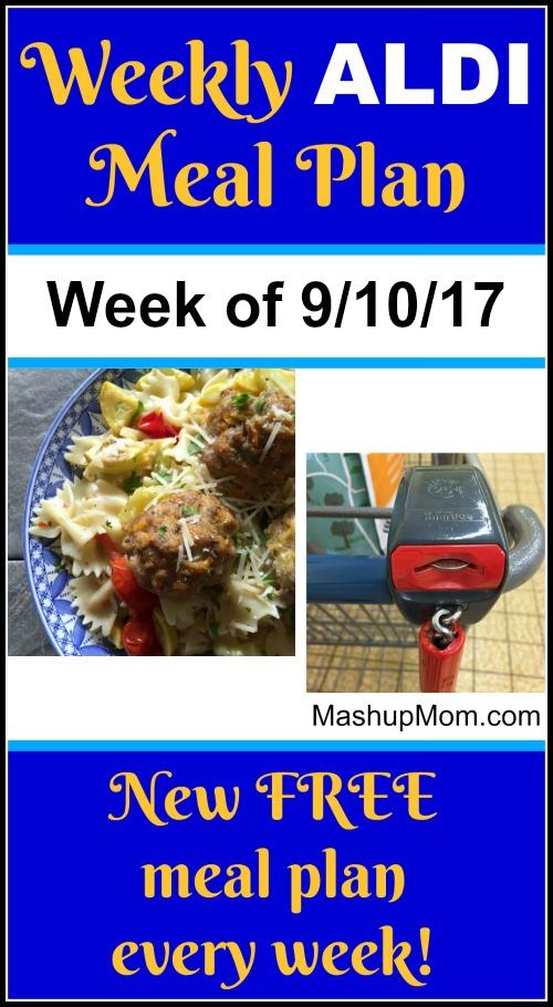 free aldi meal plan september 2017