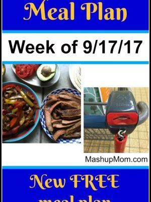 Free ALDI Meal Plan week of 9/17/17 – 9/23/17
