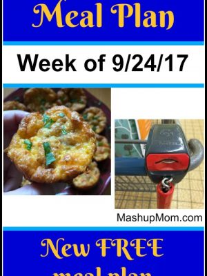 Free ALDI Meal Plan week of 9/24/17 – 9/30/17