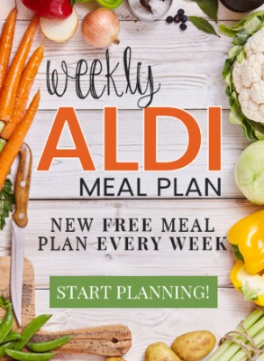 weekly ALDI meal plans from Mashup Mom -- six complete dinners for four, $60 out the door! MashupMom.com, every Wednesday.